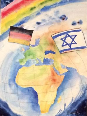 CO-Israel2 Frieden für israel / Aquarell in A3