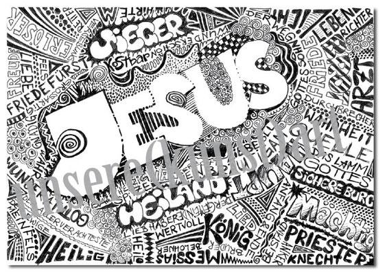 CO-J3 JESUS / Doodle in A5