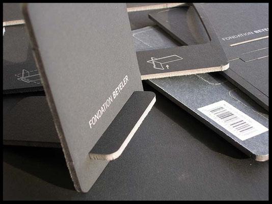 Fotosteller 2-farbig bedruckt  Grau/Weiss