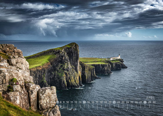 Kalender Isle of Skye 2019, Neist Point Lighthouse