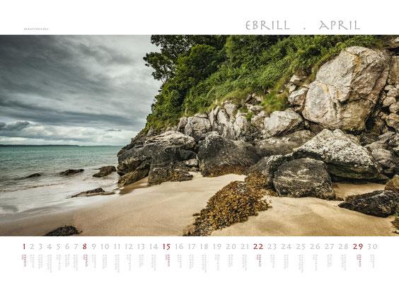 Calendar Wales 2018, Barafundle Bay