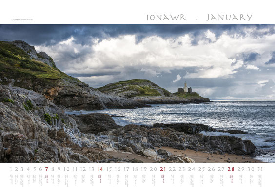 Calendar Wales 2018, Mumbles Light House