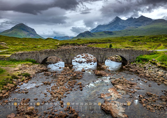 Kalender Isle of Skye 2019, Bridge of Sligachan
