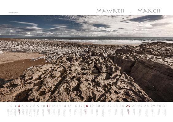Calendar Wales 2018, Ogmore Beach