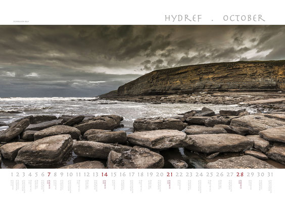 Calendar Wales 2018, Dunraven Bay
