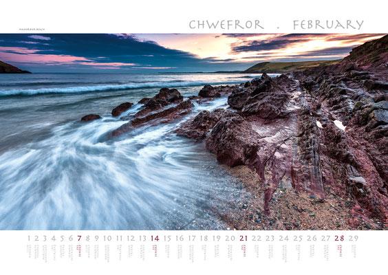 Calendar Wales 2018, Manorbier Beach