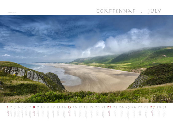 Calendar Wales 2018, Rhossili Bay