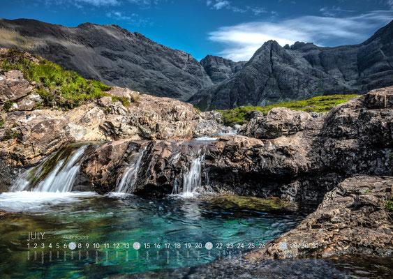 Kalender Isle of Skye 2019, Fairy Pools