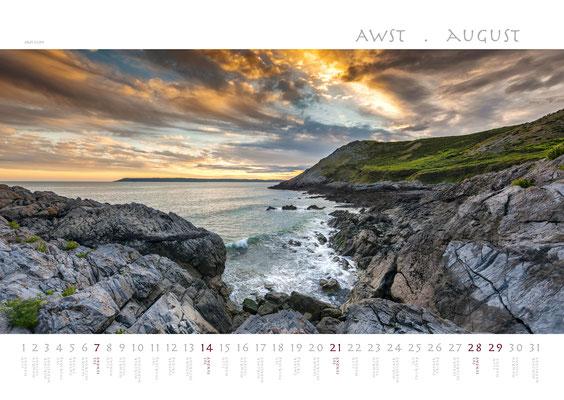 Calendar Wales 2018, West Cliff