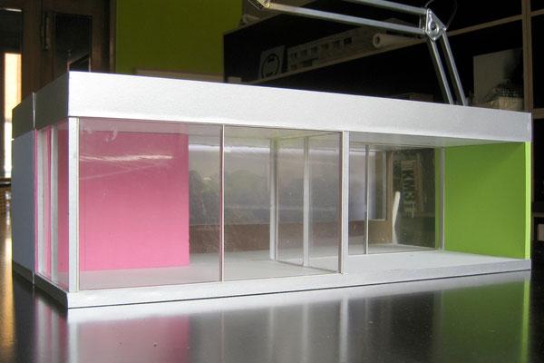 Hopf & Wirth Architekten, Ausstellungspavillons SKY-FRAME 1 - 6, Modell Pavillon 5