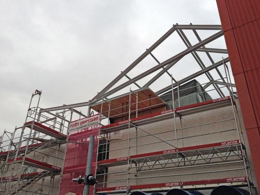 Hopf und Wirth Architekten ETH HTL SIA  Winterthur, Erweiterung Turnhallen Berufsbildungsschule Winterthur, Stahlbau