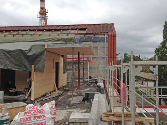 Hopf und Wirth Architekten ETH HTL SIA Winterthur, Erweiterung Turnhallen Berufsbildungsschule Winterthur, Holzbau
