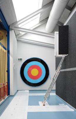 Hopf und Wirth Architekten ETH HTL SIA  Winterthur, Erweiterung Turnhallen Berufsbildungsschule Winterthur, Kunst am Bau Christopher T. Hunziker