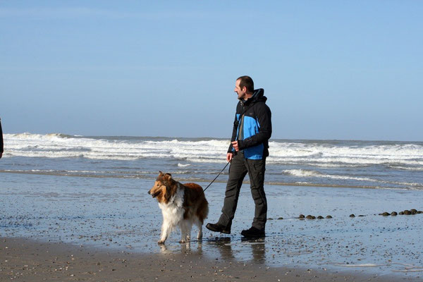"""Armin mit """"Leihhund"""" Meggy ;-)  Norderney"""