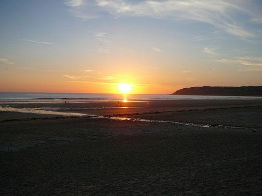 "Sonnenuntergang in ""unserer"" Bucht"
