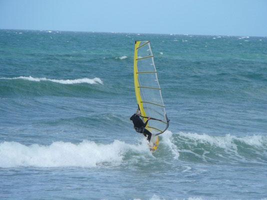 Die Surfausrüstung musste natürlich wie immer auch mit!