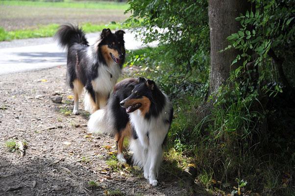 Mika und ihr Bruder Milos