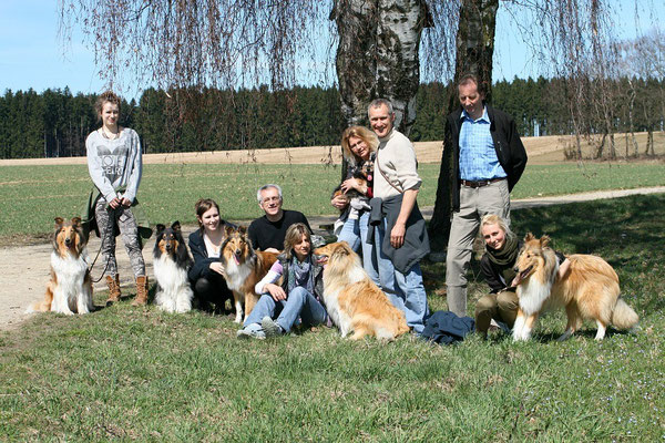 v.li.: Meggy, Klara, Boots, Bailey & Cleo, Lennox