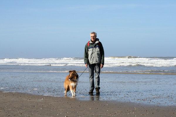 Andi mit seiner Bootsie; Norderney