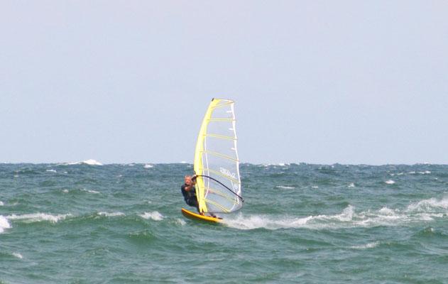 Wie immer war auch das Surfequipment an Bord