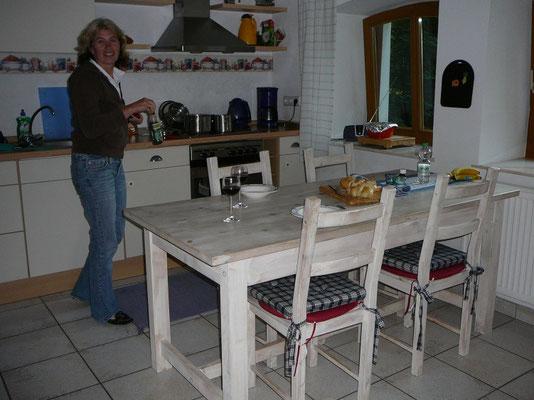Die gemütliche Küche unserer Ferienwohnung
