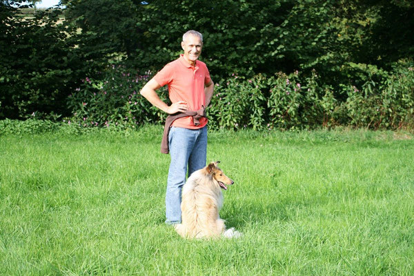 Bernd mit seiner Bailey