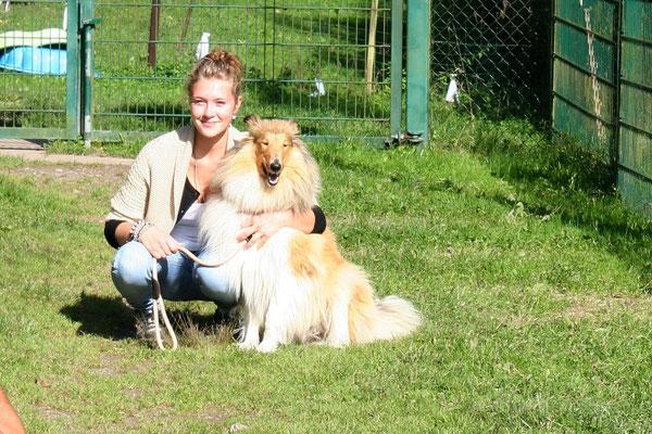 Larissa mit Bailey