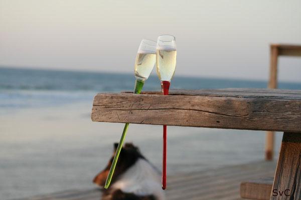 Romantischer Sonnenuntergang am Atlantikstrand :-)