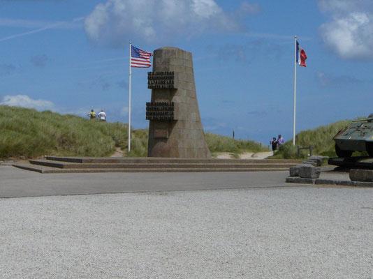 Denkmal für die Invasion der Aliierten am 06.06.1944, hier am Utah-Beach