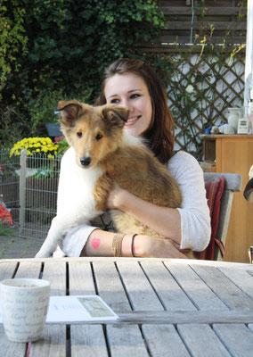 Kathi mit ihrem Liebling Braydon