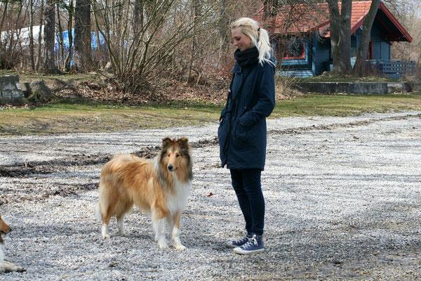 Lennox mit seiner Nina