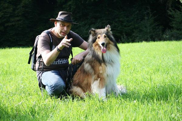 Bjarki mit Herrchen Manfred