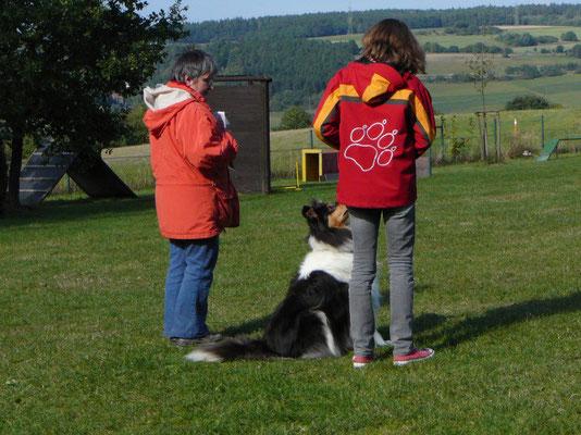 Louisa mit Klara beim CR CF Stufe 3