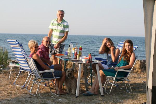 Abendessen quasi am Strand