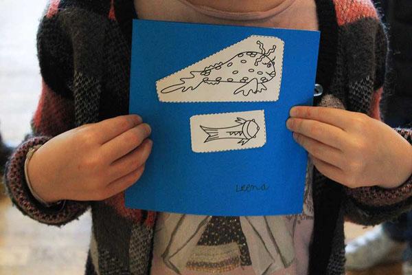 Exemple 2 de personnalisation d'enfant d'une carte pop-up spirale réalisée à l'atelier de l'illustratrice Cloé Perrotin
