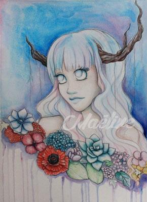 Satyre elfique par la Mangaka Maëline illu
