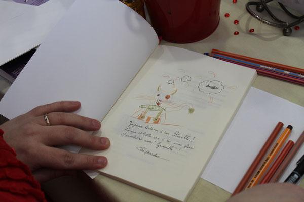 Dédicace du livre Le chat qui veut devenir un petit garçon au Salon du Livre de Garnerans en 2016