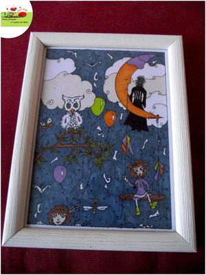 Illustration sur le thème de la fête et de la nuit - réalisée aux feutres aquarelle par Cloé Perrotin