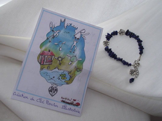 Bracelet de la e-boutique Au Marais Bleu et illustration de Cloé Perrotin
