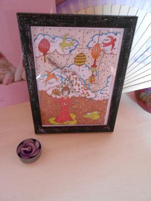 Illustration sur le thème de l'Asie photographiée chez le client avec sa décoration - réalisée par Cloé Perrotin