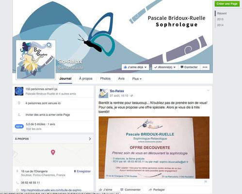 """Profil Facebook réalisé par Cloé Perrotin pour la sophrologue Pascale Bridoux-Ruelle de """"Bulle de Sophro"""""""