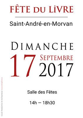 Indications panneaux en vectoriel réalisées pour La Fête du Livre de Saint-André-en-Morvan 2017