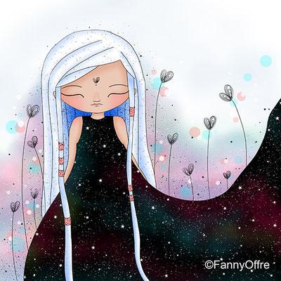 Illustration de Fanny Offre d'une fille de coeur pour l'interview sur le site de Cloé Perrotin