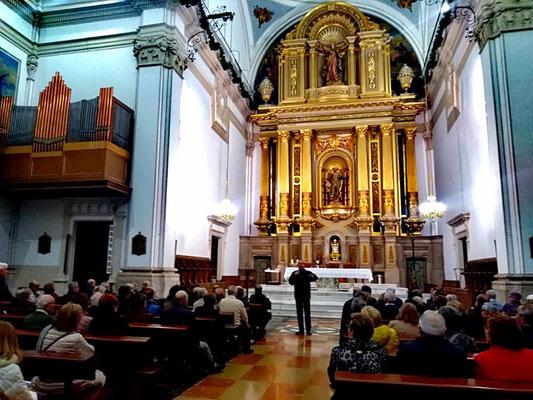 altar retablo iglesia barroca benicarlo