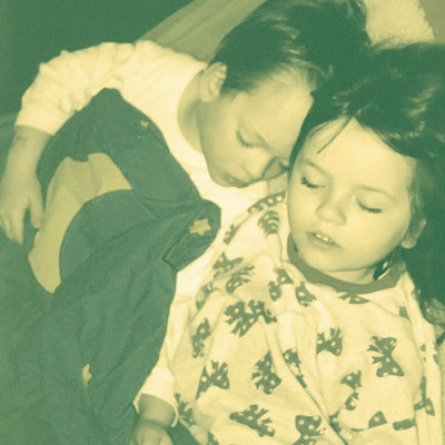 The second picture with Ines. As you can see, there was never a time where I didn't like sleeping.