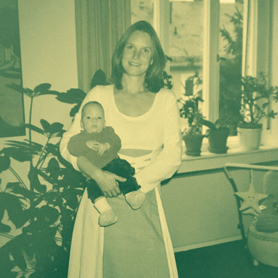 My mother holding me the year I was born, 1997. Back then there was no way in hell she would've let me fall, and I can still always rely on her to catch me if I fall. Love you, mum