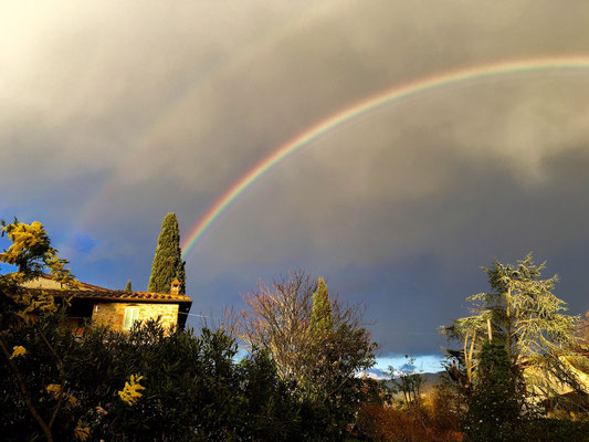 rainbow, Villa, Casafredda, Arezzo, Toscana, Tuscany, Italy