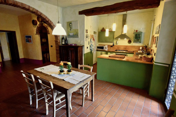 kitchen, villa, Casafredda, Arezzo, Toscana, Tuscany, agriturismo, casa vacanza