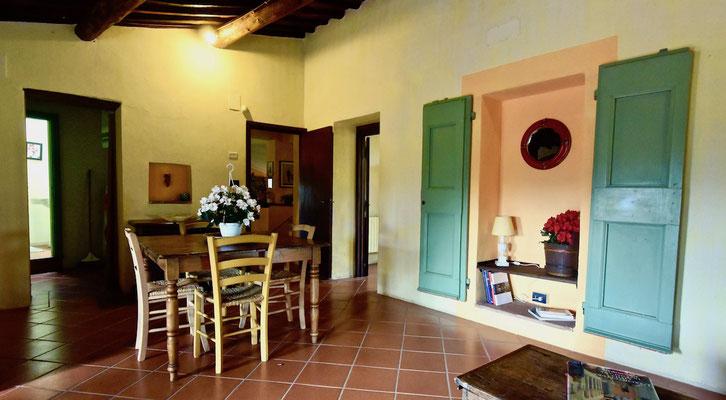 small lounge, villa, Casafredda, Arezzo, Toscana, Tuscany, agriturismo, casa vacanza