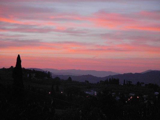 sunset, Casentino, Villa, Casafredda, Arezzo, Toscana, Tuscany, Italy